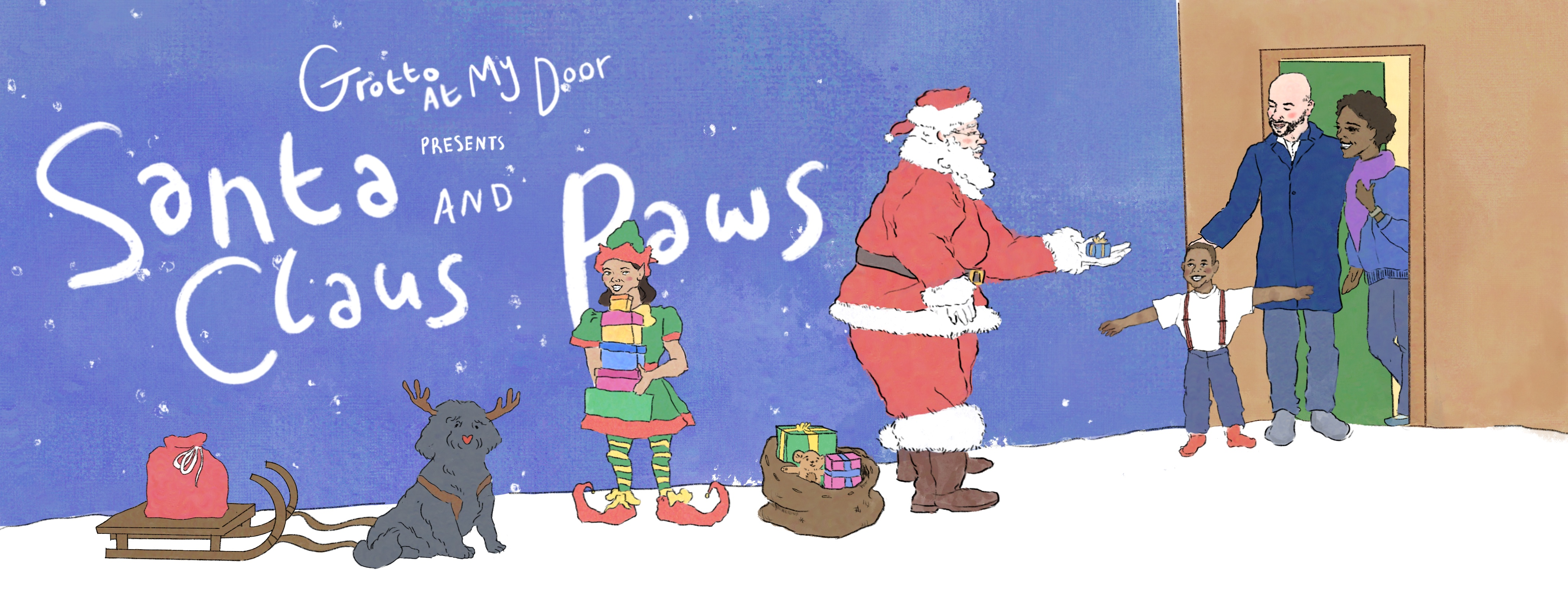 Grotto At My Door presents Santa Claus and Paws